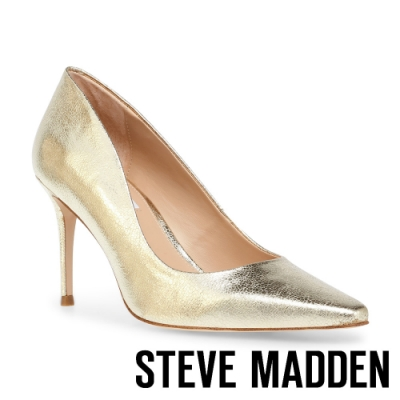 STEVE MADDEN-LOREAN 性感曲線尖頭細高跟鞋-金銅色