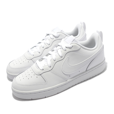 Nike 休閒鞋 Court Borough Low 2 女鞋 經典款 皮革 舒適 穿搭 大童 小白鞋 白 BQ5448-100