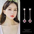 梨花HaNA 韓國925銀玫瑰花朵鏤空珠寶耳線耳環