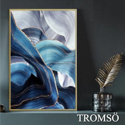 TROMSO北歐時代風尚有框畫-湖藍流金WA122