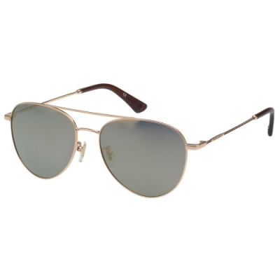 POLICE- 偏光片 水銀面 太陽眼鏡 (金色)PE-981I