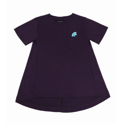 agnes b. - Sport b. 恐龍印花口袋圓領短袖上衣(女)(紫)