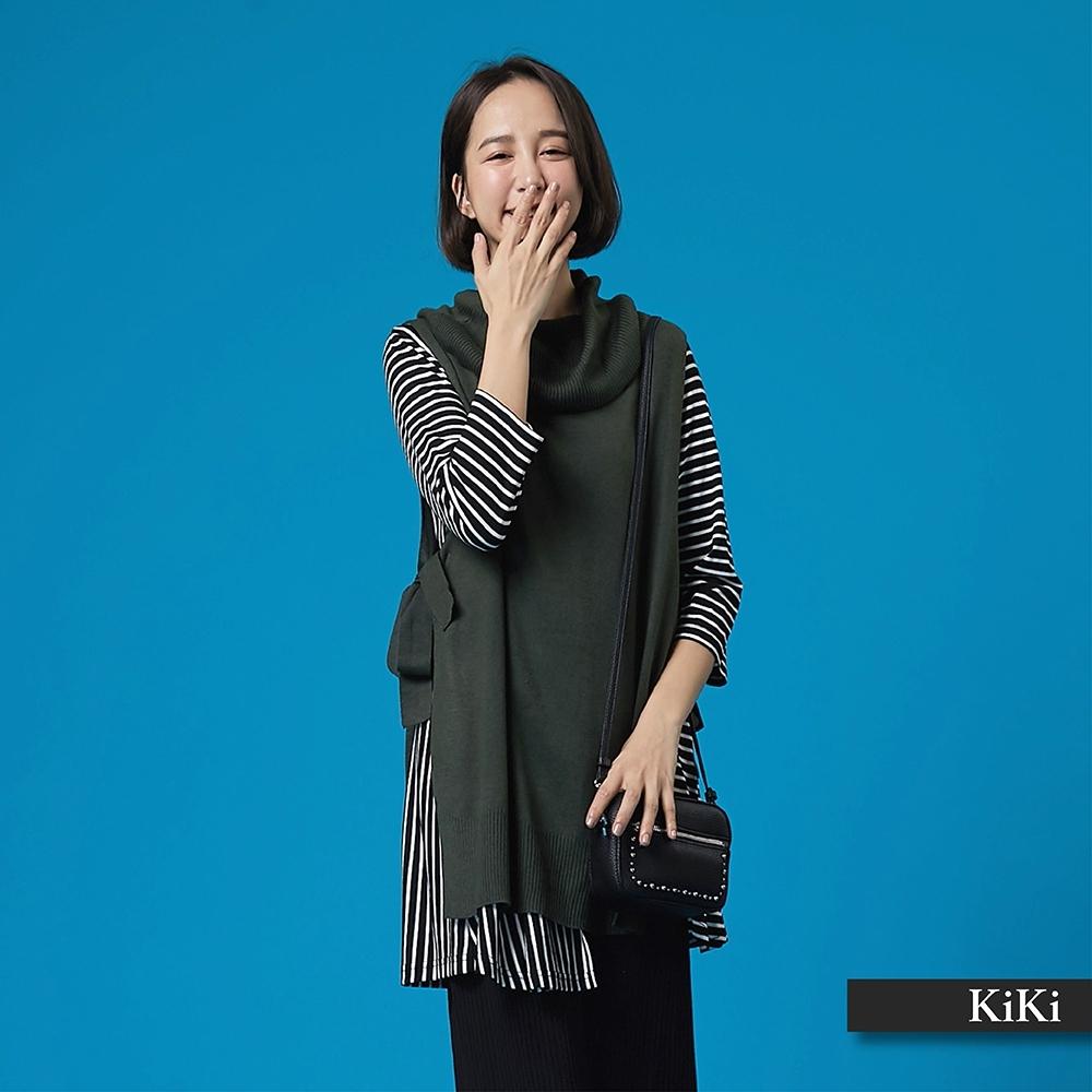 【KiKi】綁帶設計素面背心-針織衫(三色)