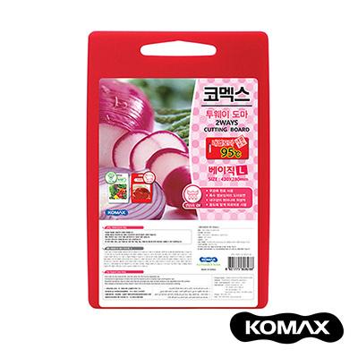 韓國KOMAX 抗菌銀離子紅白兩用砧板(大)