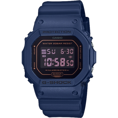 CASIO 卡西歐 G-SHOCK 海軍藍手錶(DW-5600BBM-2)