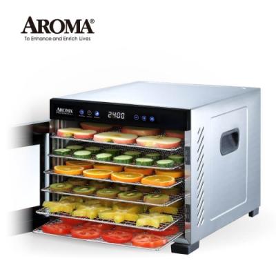 【強勢升級款】美國 AROMA 紫外線全金屬六層乾果機 果乾機 食物乾燥機 烘乾機 AFD-965SDU