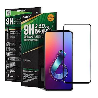 NISDA for Zenfone 6 ZS630KL 完美滿版玻璃保護貼-黑