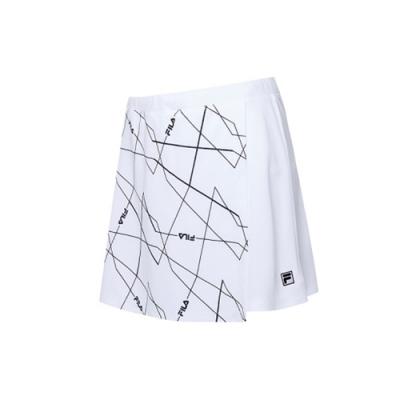 FILA 女抗UV吸濕排汗短裙-白色 5SKV-1008-WT