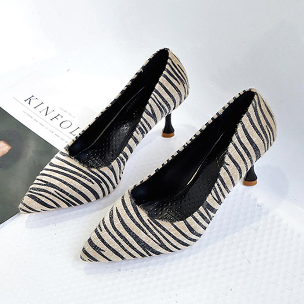 KEITH-WILL時尚鞋館 狂賣千雙舒適磨砂細跟鞋-米白色