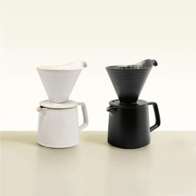 陸寶LOHASPottery 悠享咖啡壺滴濾套組V60滴濾+分享壺500ML