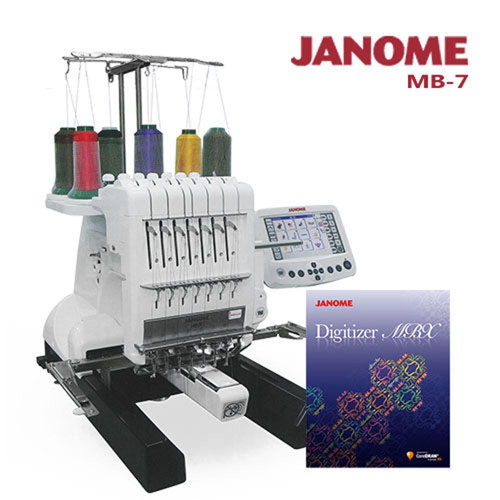 買一送一↘職業用刺繡機MB-7加送刺繡軟體組合(MB7D) @ Y!購物