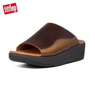 FitFlop MYLA SLIDES 包覆性高一片式簡約涼鞋-女(巧克力棕)