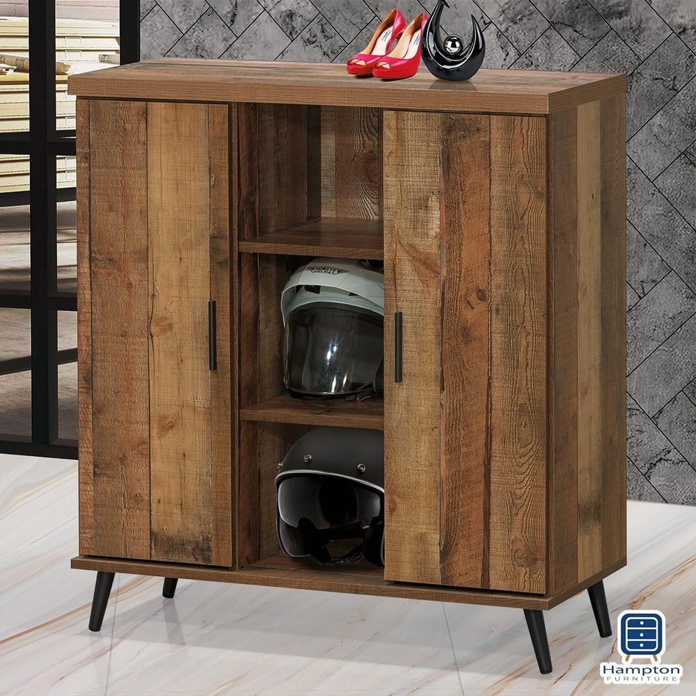 Hampton胡珀拚木3尺鞋櫃-90x40x99.5cm