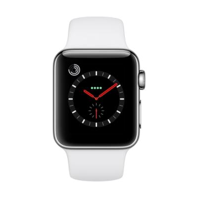 [無卡分期-12期Apple Watch S3(GPS+網路) 38mm銀色鋁+白色錶帶