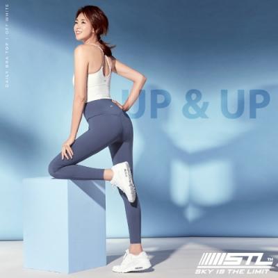 STL yoga legging UP&UP 9 韓國 運動機能 超高腰 拉提訓練 緊身長褲 瑜珈/重訓/路跑/登山 寶寶藍CadetBlue