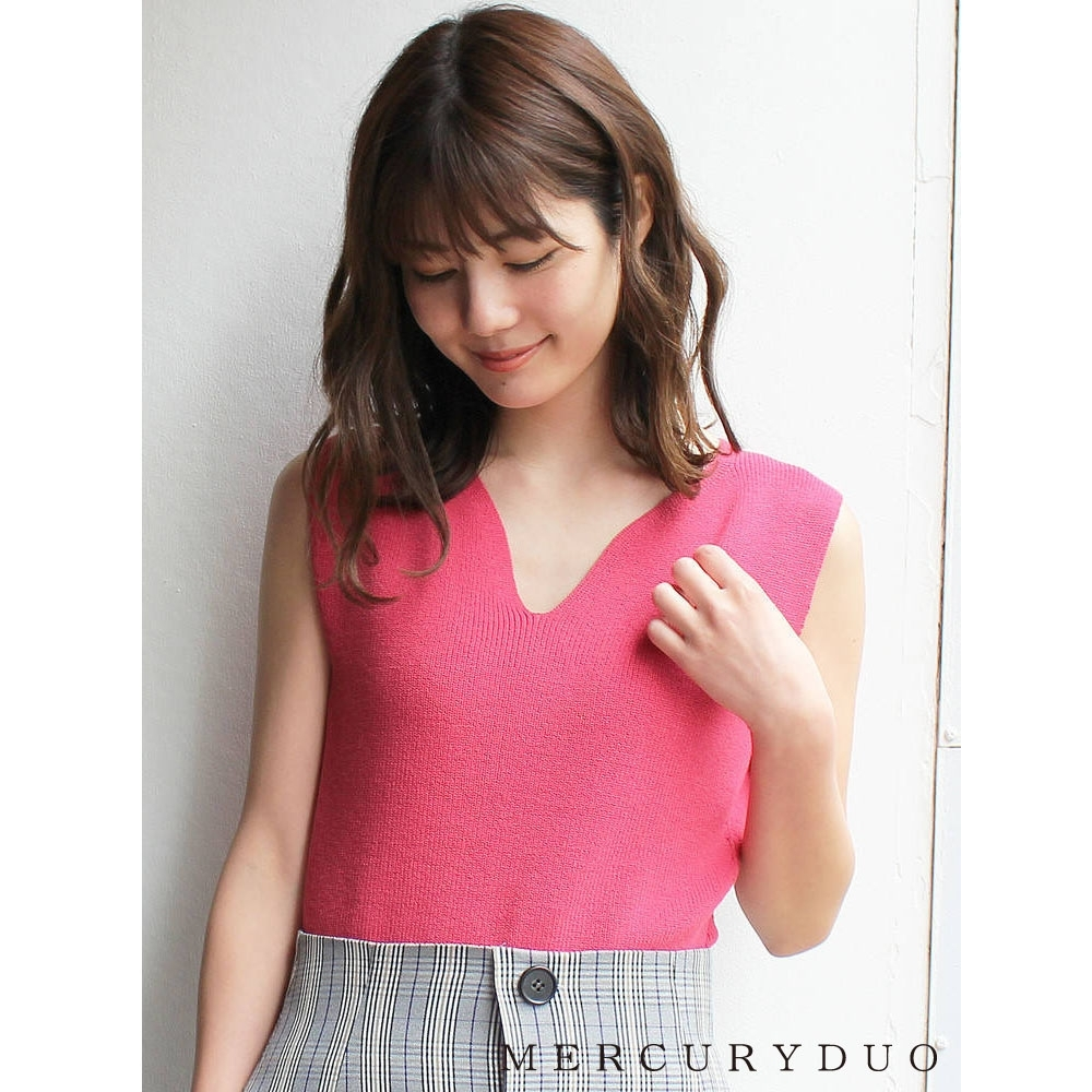 MERCURYDUO 心型領口頸後綁帶無袖上衣(4色)
