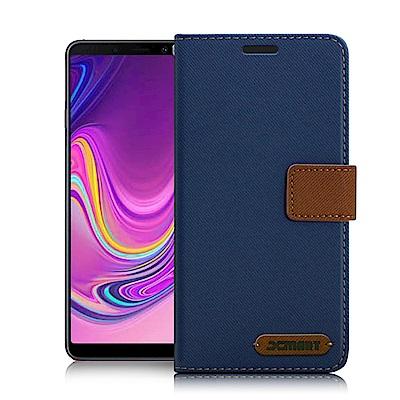 Xmart for Samsung Galaxy A9 2018 度假浪漫風支架皮套