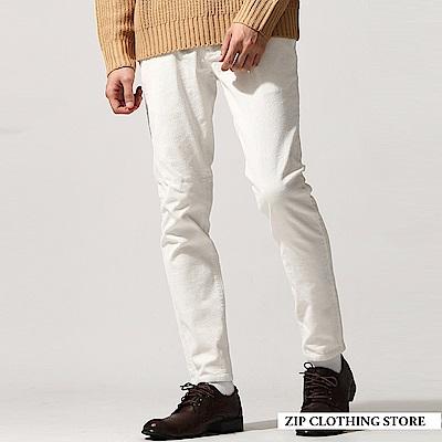 燈芯絨窄管褲(5色) ZIP日本男裝