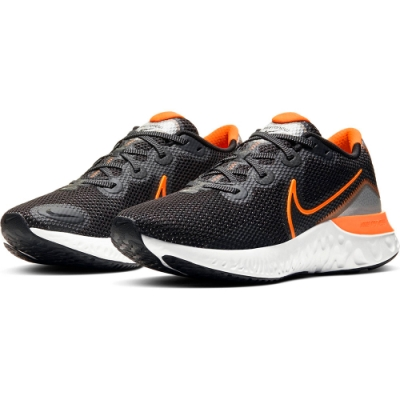 NIKE 慢跑鞋 男鞋 輕量  路跑 運動鞋 黑 橘 CK6357001  RENEW RUN