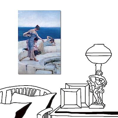 24mama掛畫 單聯 希臘神話風情無框畫-希臘美人40x60cm