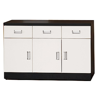 綠活居 凱沃時尚4尺雙色餐櫃/收納櫃-118.5x44.4x81cm-免組