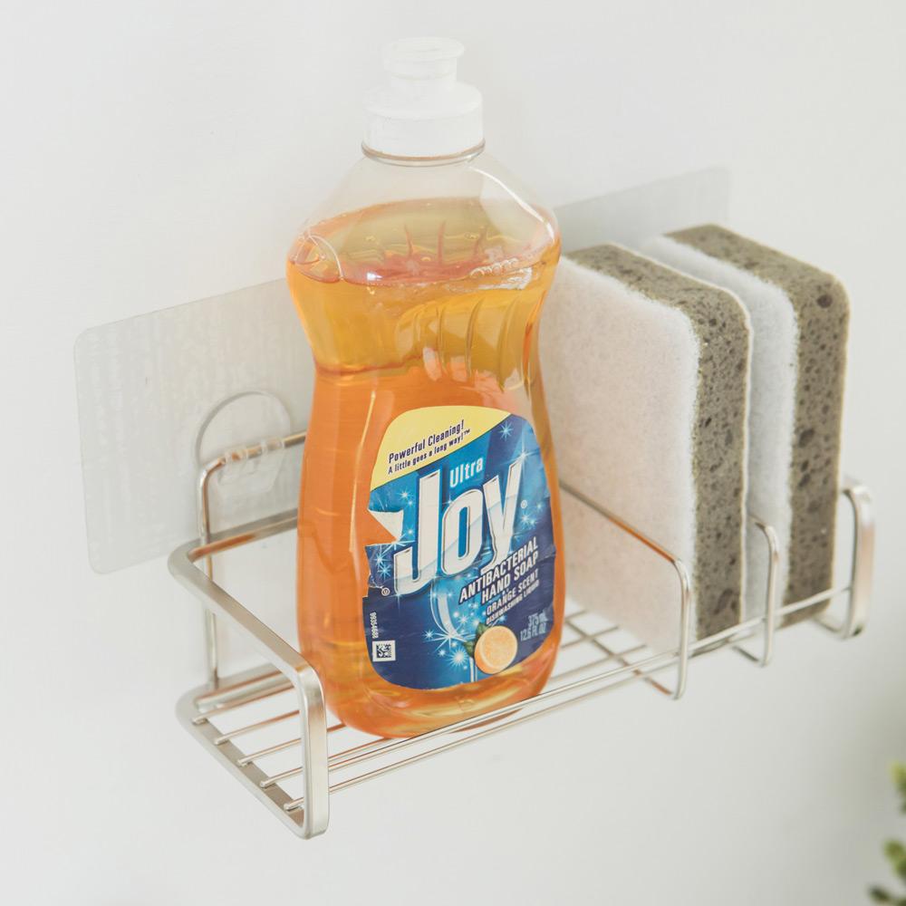 完美主義 不鏽鋼水槽架/洗碗精菜瓜布架/瀝水架/無痕貼