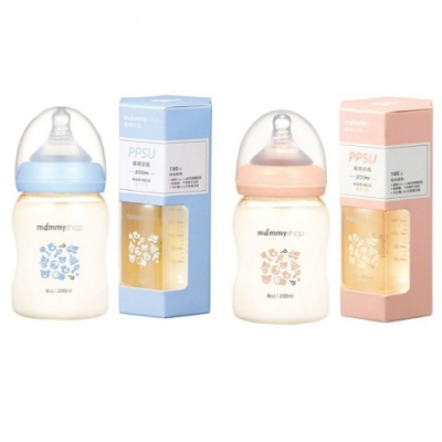 Baby童衣 媽咪小站mammy shop 台灣製造 母感體驗PPSU防脹氣哺育寬口徑奶瓶 200ml 88509