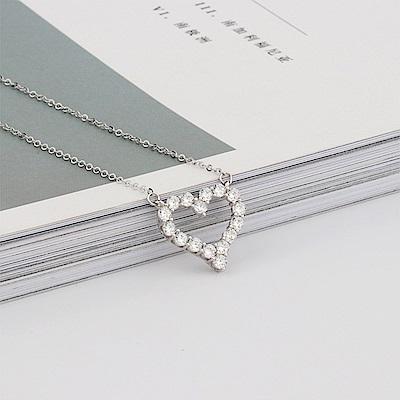 Hera 赫拉 個性造型925純銀項鍊/鎖骨鍊-經典愛心款