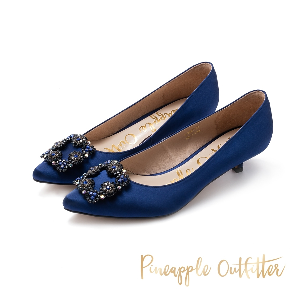 Pineapple Outfitter-PIXAR璀璨名媛方鑽釦跟鞋-特殊紋深藍色