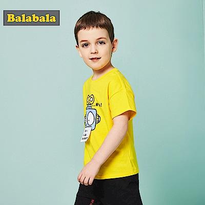 Balabala巴拉巴拉-機器人圖案造型短袖T恤-男(2色)