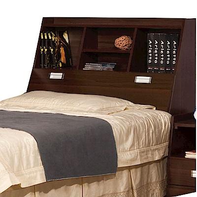 綠活居 波羅利時尚3.5尺木紋單人床頭箱(二色可選)-105x30x105cm-免組