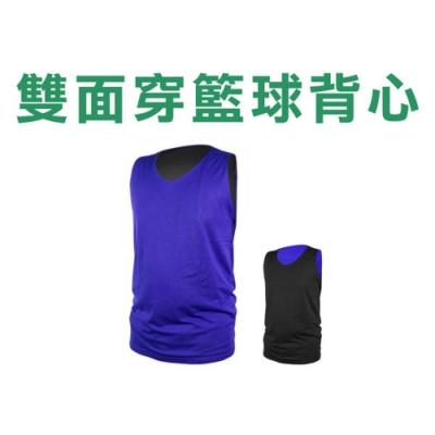 INSTAR 男女 雙面籃球背心 寶藍黑