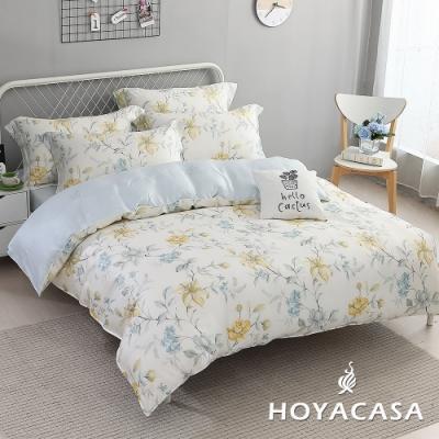 【HOYACASA 】雙人抗菌天絲兩用被床包四件組-羅曼花都
