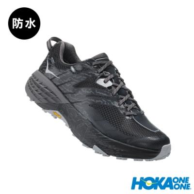 HOKA ONE ONE 男 Speedgoat 3 防水 野跑鞋 黑灰雨