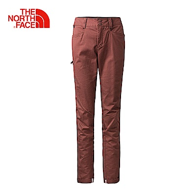 The North Face北面女款紅色舒適耐穿戶外休閒褲