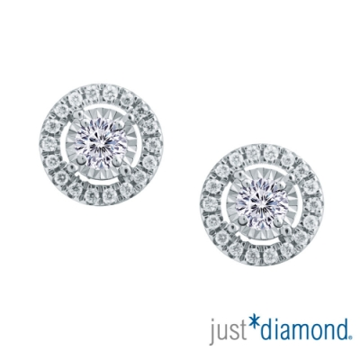【Just Diamond】Dreamy系列18K金鑽石耳環-華麗款