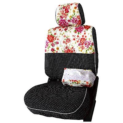 【葵花】量身訂做-汽車椅套-布料-花漾珍珠B-休旅車-9人座款1-3排
