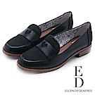 ED Ellen DeGeneres 愛心優雅樂福低跟鞋-黑色