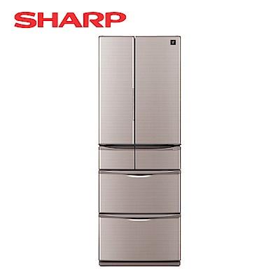 SHARP夏普 465L 4級變頻6門電冰箱 SJ-XF47BT 晶燦棕