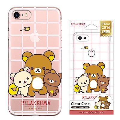 iPhone 8/7 拉拉熊 PC/透明/金箔 手機硬殼 4.7吋-拉拉熊全家福