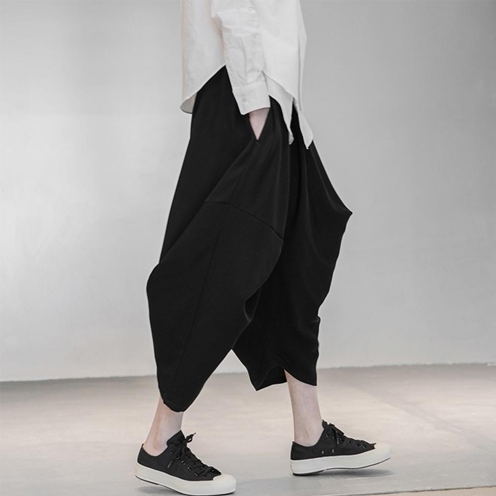 設計所在Style-日系不規則個性寬鬆垂感八角褲哈倫褲