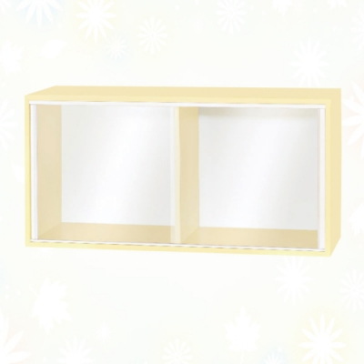 文創集 歷克 環保2.7尺南亞塑鋼玻璃推門二格置物櫃/收納櫃-80x31x40cm免組