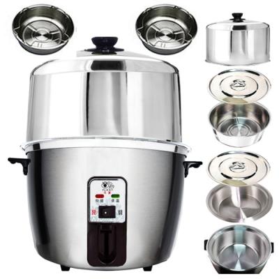 天蠶10人份304不鏽鋼電鍋YL-10AA8(304加高電鍋蓋+雙內鍋及鍋蓋+2高蒸盤)