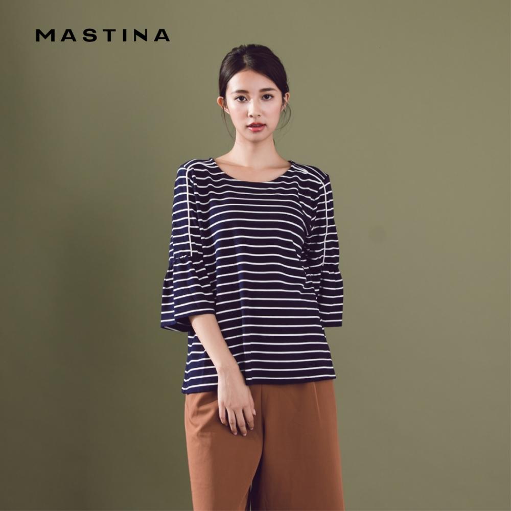 【MASTINA】線條造型五分袖-上衣(二色)