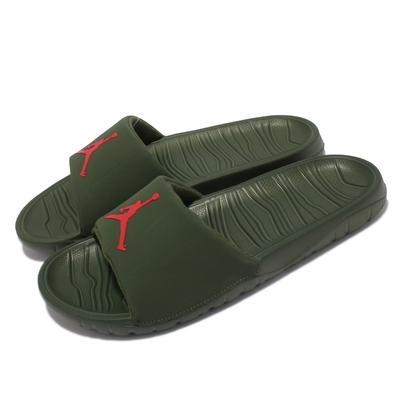 Nike 拖鞋 Jordan Break Slide 男鞋 避震泡棉 飛人logo 輕便 套腳 綠 紅 DM2952-300