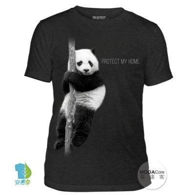 摩達客-美國The Mountain保育系列 熊貓的家 中性短T恤 柔軟高級混紡