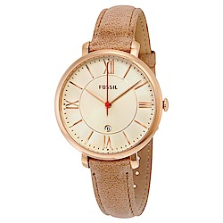 FOSSIL 羅馬氣息復古設計腕錶(ES3487)-玫瑰金/35mm