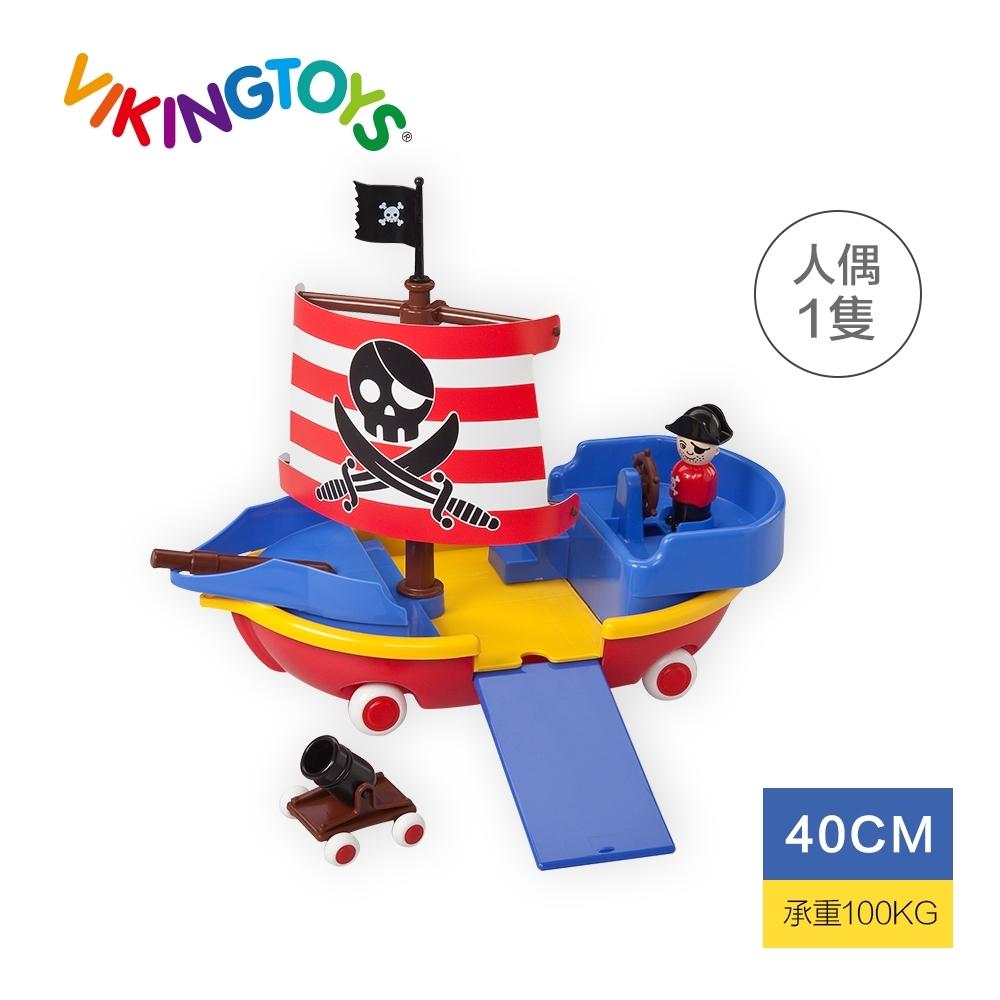 【瑞典 Viking toys】探險海盜船-40cm 81595(幼兒玩具車)