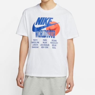 NIKE 短袖上衣 上衣 運動 慢跑 健身 男款 白 DA0938-100 AS M NSW TEE WORLD TOUR
