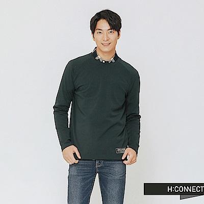 H:CONNECT 韓國品牌 男裝-休閒純棉長袖上衣-綠